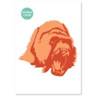 Gorilla stencil, dieren sjabloon