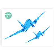 Vliegtuig stencil, voertuig sjabloon
