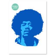 Jimy Hendrix stencil, idool sjabloon
