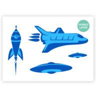Raket stencil, Space-shuttle sjabloon