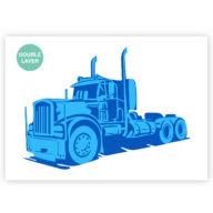 Vrachtwagen stencil, auto sjabloon