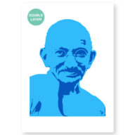 Ghandi stencil, idool sjabloon