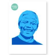 Nelson Mandela stencil, idool sjabloon