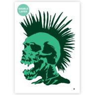 Punk Skull stencil, doodshoofd sjabloon