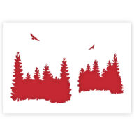 Bos Skyline stencil sjabloon