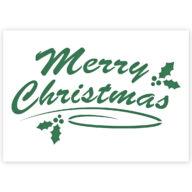 Kerst sjabloon Merry Christmas graffiti stencil