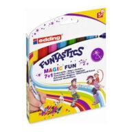 edding 13 funtastics magic marker set van 8 kleuren kleur veranderende stiften