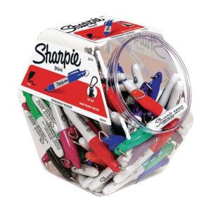 Sharpie mini marker canister display value box met 72 Sharpie pens