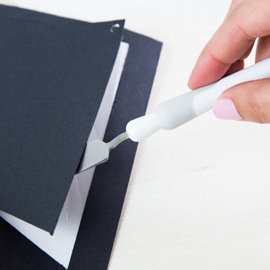 silhouette spatula tool voor snijmatten te gebruiken bij sjablonen maken en stencil art