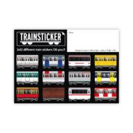 Underpressure Trainsticker Set XL A4 graffiti stickers